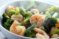 Click for a larger photo of Ginger Shrimp and Broccoli Stir-Fry