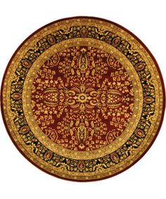 @Overstock.com - Lyndhurst Collection Persian Treasure Red/ Black Rug (5' 3 Round) - Lyndhurst Persian Treasures rug features traditional Persian and European designsTraditional rug highlights a red background and black borderRug displays accents of red, olive, gold, and ivory spread across its beautiful patterns  http://www.overstock.com/Home-Garden/Lyndhurst-Collection-Persian-Treasure-Red-Black-Rug-5-3-Round/2969822/product.html?CID=214117 $64.49
