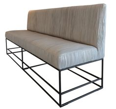Viete Bench  Contemporary, MidCentury  Modern, Transitional, Leather, Metal, Upholstery  Fabric, Bench by Larkin Gaudet, Llc