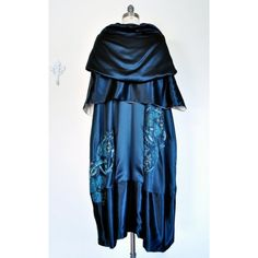 An Important 1920 Opulent Era Antique Numbered Couture Silk Evening Coat by Berthe Hermance found on Polyvore