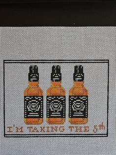 """A perfect gift for the bourbon lover in your life!  5.5""""  x 7.5"""".  14 Mesh. Fibers included"""