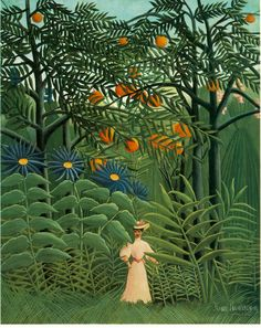 Henri Rousseau Woman Walking in an Exotic Forest art painting for sale; Shop your favorite Henri Rousseau Woman Walking in an Exotic Forest painting on canvas or frame at discount price. National Gallery Of Art, Art Gallery, Cleveland Museum Of Art, Art Institute Of Chicago, Free Illustration, Post Impressionism, Oil Painting Reproductions, Naive Art, Kandinsky