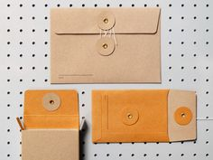 Coloured envelopes with tie