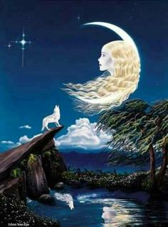 The wolves how to their mother Luna in the moon when she calls Sun Moon Stars, Sun And Stars, Moon Dance, Moon Pictures, Moon Pics, Moon Shadow, Good Night Moon, Moon Magic, Beautiful Moon