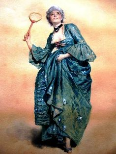 Eleuterio Pagliano (1826-1903) Леди, играющая в волан