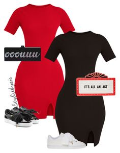 """""""Untitled #6915"""" by stylistbyair ❤ liked on Polyvore featuring Puma and Kate Spade"""