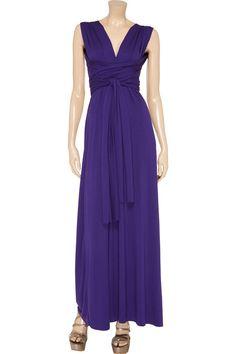 Purple infinity wrap convertible bridesmaid by AndreeaLofgren