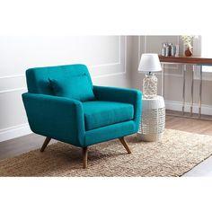 ABBYSON LIVING Bradley Petrol Blue Fabric Armchair