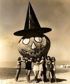 Halloween on Venice Beach c.1938