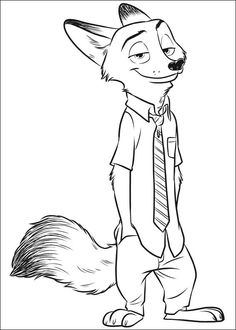 Zootopia Coloring Pages 8
