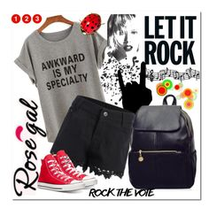 """Let it Rock"" by bamra ❤ liked on Polyvore featuring Converse and vintage"