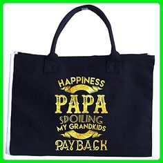 Happiness Is Being A Papa A Cool Father's Day Gift - Tote Bag - Top handle bags (*Amazon Partner-Link)