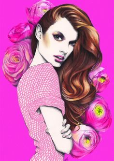 Pippa McManus illustration #fashion #beauty