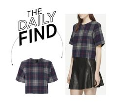 """Daily Find: Rag & Bone Plaid Crop Top"" by polyvore-editorial ❤ liked on Polyvore featuring moda, rag & bone e DailyFind"