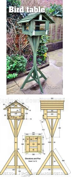 Bird Table Plans - Outdoor Plans and Projects | WoodArchivist.com