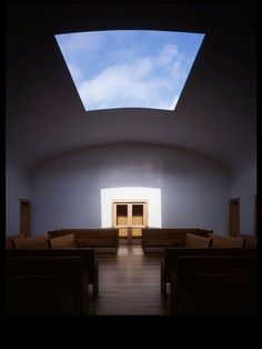 Friends Meeting House, Houston, 2001, Leslie Elkins, Architect, Skyspace by James Turrell (1318 West 26th St.,  Houston)