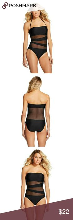54dd30ab8ec42 Mossimo Mesh One Piece Swimsuit So comfortable and cute. Can either be  strapless or halter