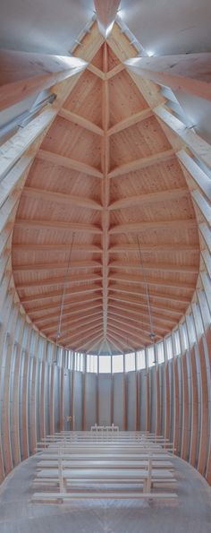 The Saint Benedict Chapel, located in the village of Sumvitg, Graubünden, Schweiz, by Peter Zumthor in 1988 Sacred Architecture, Architecture Antique, Timber Architecture, Romanesque Architecture, Cultural Architecture, Church Architecture, Religious Architecture, Education Architecture, Classic Architecture
