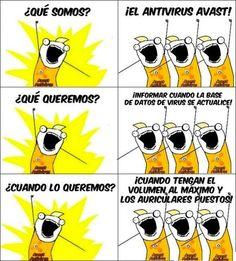 El antivirus Avast. #chiste #humor #tecnología #informatica