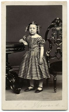 https://flic.kr/p/Sm9UV3 | Ida Granville Howard Borden | Carte de visite by Howard of New Bedford, Mass. After I purchased this image from collector and dealer Erin Waters, we chatted about the high quality of this portrait. At one point Erin noted the back mark and mused that this young girl may have been the photographer's daughter.  Erin was absolutely correct! According to the 1870 census for New Bedford, Ida G. Howard, 9, lived with her mother, Elizabeth N., and father, James, who was…