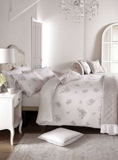 Holly Willoughby Neve Bedding - Up to off Bedding Sets - Sale & Offers - BHS Zipper Bedding, Embroidered Bedding, Holly Willoughby Bedding, Bedroom Bed, Bedrooms, Bedroom Ideas, Loft, Rustic Cottage, Minimalist Interior