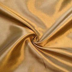 Kleider / Deko Taft Farbe Gold changierend