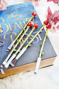 Beauty and the Beast Detailed Makeup Brushes #Ebay #Makeup #Beauty #Disney #Lifestyle