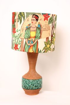 Vintage Frida Khalo Lamp, Engraved base.