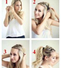 Hair up plait