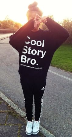 Cool Story, Bro -Whoever took this sweater from me, except in red... better bring it back -_-""