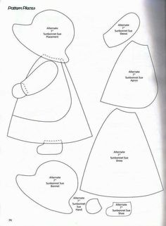 Classic Sunbonnet Sue and looks great to use for quilting or a crazy pillow. Classic Sunbonnet Sue and looks great to use for quilting or a crazy pillow. Free Applique Patterns, Applique Templates, Patchwork Patterns, Sewing Appliques, Machine Embroidery Applique, Quilt Block Patterns, Applique Quilts, Machine Quilting, Quilt Blocks