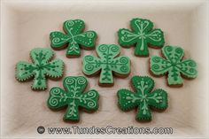 St. Patrick's Day cookies custom made hand by TundesCreations