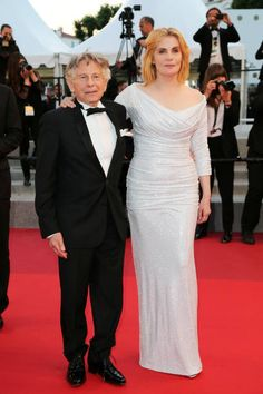 Director Roman Polanski and actress Emmanuelle Seigner leave the 'Based On A True Story' screening during the 70th annual Cannes Film Festival at...
