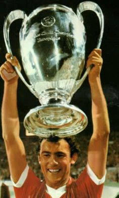 Ray Kennedy with the European Cup.