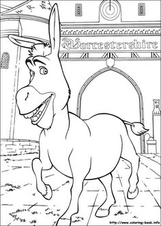 awesome shrek-3-28 coloring page