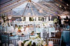 Romantic Silver and White Wedding Reception Decor, Savannah Special Events by Ranco #savannahwedding #southernwedding #wedding
