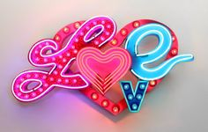 """Chris Bracey """"Love"""" at Guy Hepner Gallery, Los Angeles Care Bear Tattoos, Neon Words, All Of The Lights, Neon Nights, Neon Aesthetic, Fb Covers, True Art, Light Installation, Artistic Photography"""