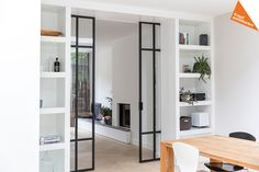 Sliding Pocket Doors - November 22 2018 at Cabinet D Architecture, Interior Architecture, Door Makeover, Steel Doors, House Roof, Interior Barn Doors, Innovation Design, Home And Living, Living Room