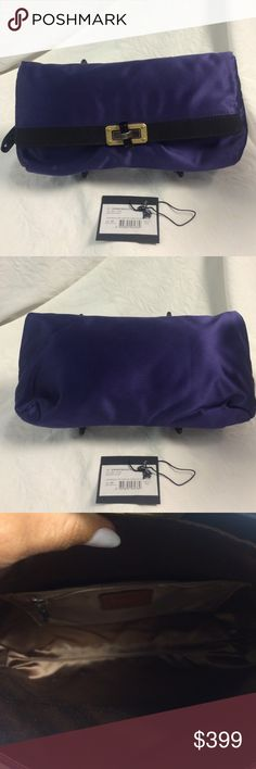 Selling this Lancing Paris Royal blue satin clutch with tag in my Poshmark closet! My username is: b287807. #shopmycloset #poshmark #fashion #shopping #style #forsale #Lanvin #Handbags