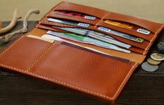 Leather Travel Wallet Mens Wallets Men's Leather by 22THEPORTALL