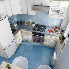 Угловая (Г-образная или L-образная) планировка кухни