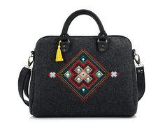 Unisex laptop bag 13 inch macbook cover Black by HappyMoodShop