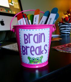 BRAIN BREAKS--- CANNOT wait to do this!!! I do some of these, but just off the top of my head. This will give the kids more of a variety.
