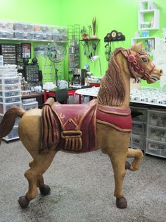 Carousel Horse restored by Lizzie