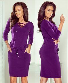 Dekoltázsán fűzős miniruha - Több színben (S,M,L,XL) High Neck Dress, Bodycon Dress, Dresses, Fashion, Turtleneck Dress, Vestidos, Moda, Body Con, Fashion Styles