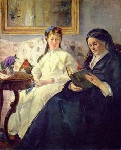 Berthe Morisot.  Mutter und Schwester der Künstlerin. 1869-70, Öl auf Leinwand, 101 × 82 cm. Washington (D.C.), National Gallery of Art. Frankreich. Impressionismus.  KO 01837