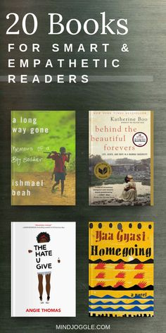 20 Books for Smart and Empathetic Readers The fiction and nonfiction books on this list tell stories of struggles and tragedies that happen in real life. They are perfect for people who read to better Book Club Books, Good Books, Books To Read, My Books, Book Clubs, Book Challenge, Reading Challenge, Reading Lists, Book Lists