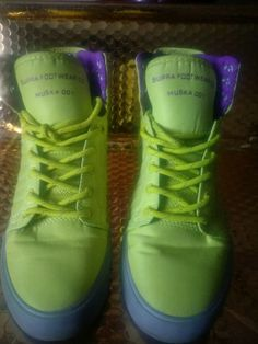 16620a73db92 Collect SUPRA Footwear SW18011 Yellow Purple Womens Size 7.5  fashion   clothing  shoes