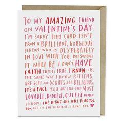 Amazing Single Friend Valentine Card