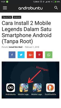 Begini cara install 2 Mobile Legends di smartphone kamu. Dengan begitu kamu bisa main dua akun sekaligus. Baca selengkapnya di androbuntu.com